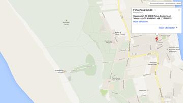 Google Maps Ausschnitt: Lageplan von Nebel/Amrum inkl. DukDi